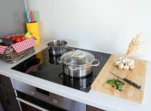 Essensvorbereitungen in der Küche